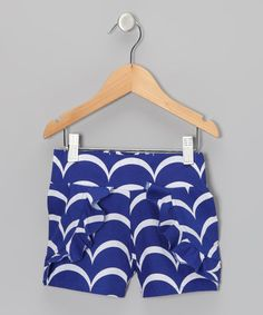Take a look at this Navy Swirl Ruffle Shorts - Girls by Addie & Ella on #zulily today!