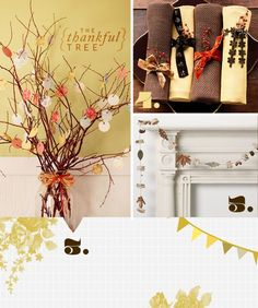 Thanksgiving table decoration DIY