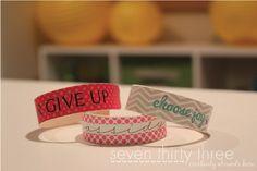 Craft Stick Bracelet.
