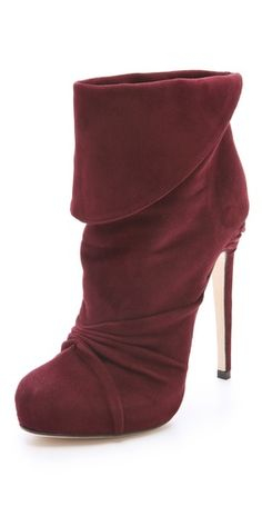 suede boots with a sky high stiletto heel
