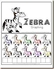 homeschool letter, zebra