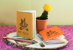 DIY Mini Summer Notebook #journal #paper #tutorial