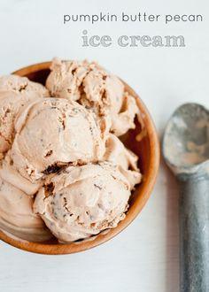 delici thing, ice cream recipes, butter pecan, food, pumpkins, fall treats, pecan ice, dessert, pumpkin butter