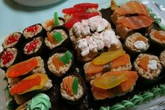 Sushi for kids from A Blessed and Blissful Life: Sushi Anyone? It's Party Time!