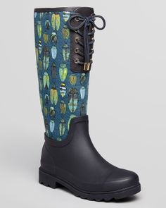 Tory Burch Rain Boots - Lana Lace Up