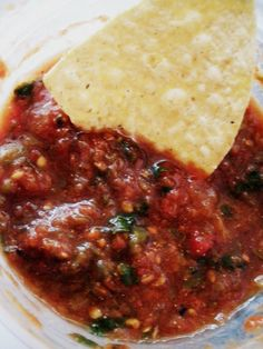 Freezer Salsa Recipe- this is on the hot side of medium, reduce jalepeños for milder. I chopped everything in the food processor.  After simmering 3 hours I added 3 sm cans tomato paste to get desired thickness. Made 14 pints of salsa. 2013-2 batches