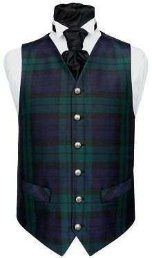 Black Watch Tartan Waistcoat - the tartan of my clan, Clan Keith.