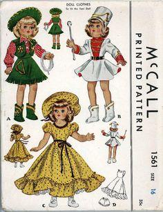 Original Vintage Doll Clothes Pattern Advance 1561 by BlondiesSpot, $19.99