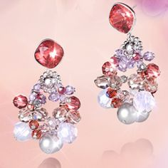 #SS12 Collection: Swing, Sing and Shine - #Swarovski Ribbon Pierced Earrings