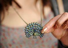 $8.99  Vintage Bohemia Peacock Pendant Necklace
