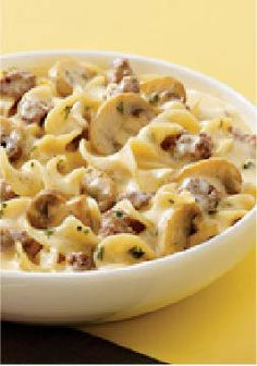 VELVEETA Creamy Beef Stroganoff Skillet – From skillet to dinner table in 20 minutes total, this delicious pasta recipe is sure to become a family favorite.