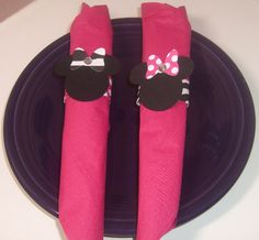 Minnie Mouse Napkin Rings  Party Decorations by Kustomcardsandmore, $9.00
