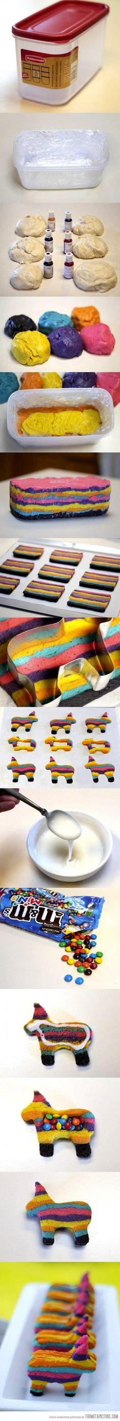 Awesome Piñata cookies