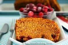 Vegan Pumpkin Cranberry Bread