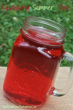 Need an energy boost? Drink this revitalizing summer tonic // deliciousobsessions.com