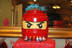 Pretzel Tub turned into a Lego Ninjago Head