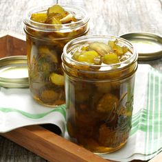 Fire-and-Ice Pickles Recipe - friend gave me some this weekend.  Yummy! Easy for gifts.