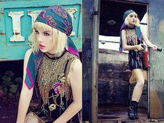bohemian bliss, gypsy fashion, bohemian chic, bohemian look, boho, gypsi, the road, silk scarves, head scarf