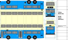 CMB Super Metro Buses - paper model bus - paperbuses.com. DIY paper craft