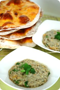 Moroccan FlatBread and Babaganoush