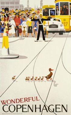 Wonderful Copenhagen print via Danish Art and Christmas Shop