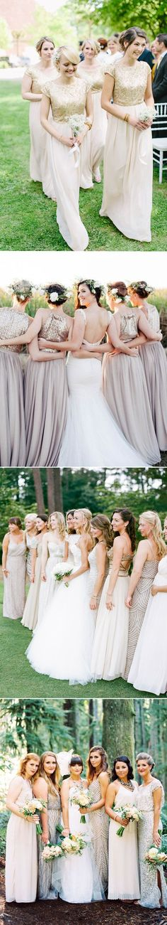 metallic real weddin