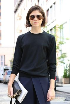 Street Style: Emily Weiss | Black + Navy