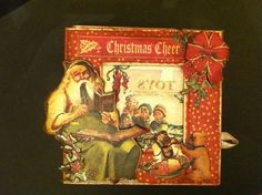 Incredible Christmas Emporium 5x5 Altered Art Box by Clare Charvill! #graphic45 #alteredartbox #DIY #christmas