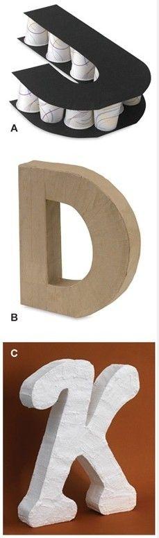 Как сделать объемную букву к из картона