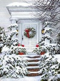 A Holiday Welcome on the porch