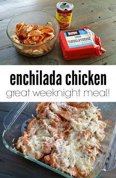 Easy enchilada chicken. A great weeknight meal!