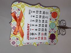 Top Note Die Magnetic Calendar made with Stampin' Up! supplies