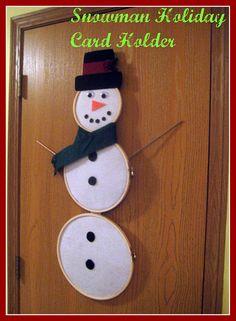snowman card holder