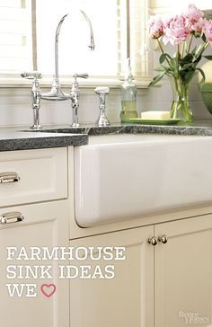 Add instant charm to your kitchen with a farmhouse sink: http://www.bhg.com/kitchen/sink/farmhouse/?socsrc=bhgpin042714farmhousesink