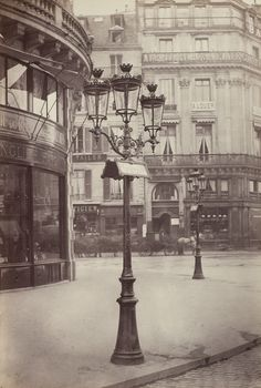 The Elegant Gas Lamps of Paris, 1877-1878, Charles Marville. French (Paris 1813 - 1879 Paris)