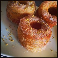 Easy to make delicious cronuts at home... Recipe! cronut, breakfast, food, kitchen towels, puff pastries, baking, recip, home made, dessert