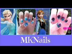 ▶ Disney's Frozen: EASY Anna And Elsa Nails!!!! - YouTube