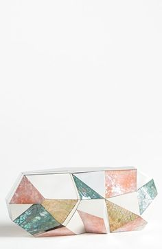 Mother of pearl clutch.