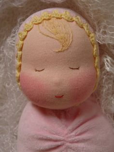 Swaddled baby Waldorf inspired Baby doll Ready by Revesdepoupees