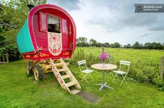 This gypsy caravan in Cornwall, England, is available for overnight stays at $130 a night.