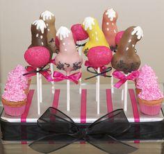 Naughty bachelorette cake pops!