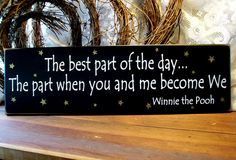Valentine The best part of the day Wood Sign Painted for your Sweetie. $22.00, via Etsy.