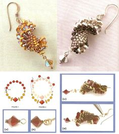Schema for earring spiral.  #Seed #Bead #Tutorial