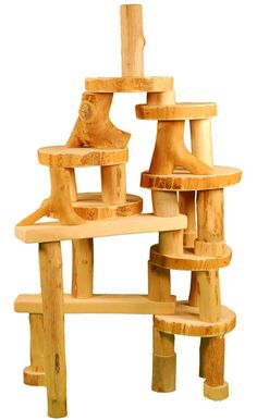 35 piece Barkless Tree Block Set in a Bag by Tree Blocks - $41.95