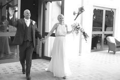 Bride Jessica Fitzjohn in her Amanda Wakeley Sposa wedding dress, 'Amber', on her wedding day. wedding dressses, bride jessica