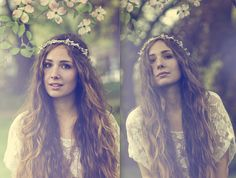 hairbeauti idea, garden crown, crowns, flower headbands, gardens, pink, boho, beauti ether, nymph