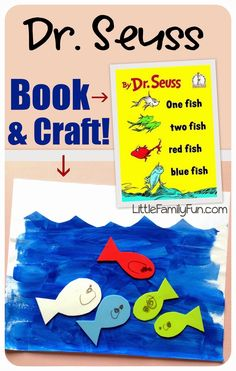 Fun Dr. Seuss craft! Simple craft to go with the book -- One Fish, Two Fish.....by Dr. Seuss!