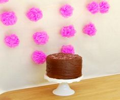Another cheap + genius idea--loofahs as party garland.