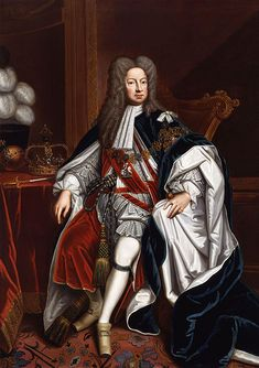 George I (George Louis; German: Georg Ludwig; 28 May 1660 – 11 June 1727[1]) was King of Great Britain and Ireland from 1 August 1714 until his death, and ruler of the Duchy and Electorate of Brunswick-Lüneburg (Hanover) in the Holy Roman Empire from 1698. At the age of 54, after the death of Queen Anne of Great Britain, George ascended the British throne as the first monarch of the House of Hanover.