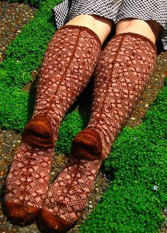 Garden Gate sock pattern from Knitty